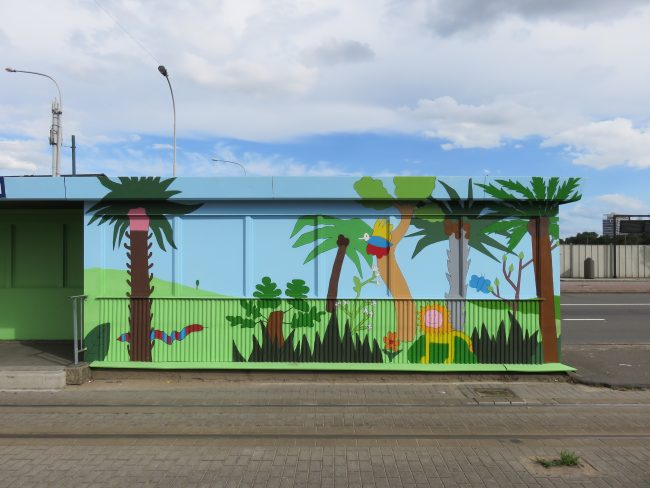 Kunstproject tramhalte station Antwerpen Zuid
